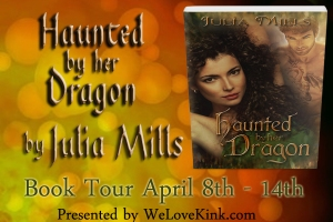 Haunted by her Dragon - book tour banner